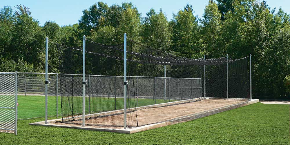 [Photo of the Beacon TUFFframe™ Tensioned Outdoor Batting Cage]