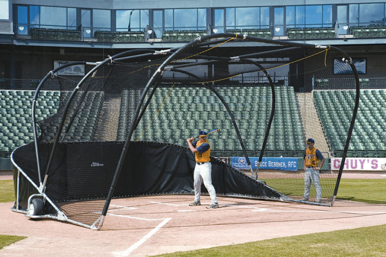 how to build a portable batting cage