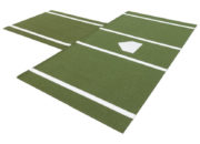 Green colored mat
