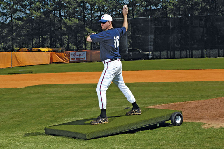 Proper Pitch Batting Practice Platform Mound