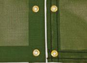 Heat-sealed (left) vs. standard (right) edging