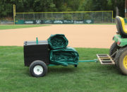 Tarp Cart with Field Weights shown with tow bar