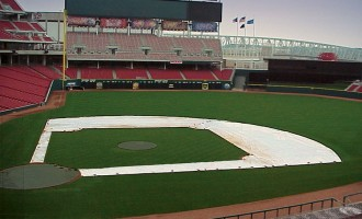 Infield Skin Tarps shown with optional base path tarps