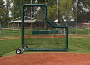 Pitcher's L Screen with Padding 135-100-480
