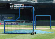 The TUFFframe Pitcher's L and 8×8 Fungo Screen at Target Field Minneapolis