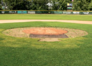 Pitcher's mound halo before turf protection
