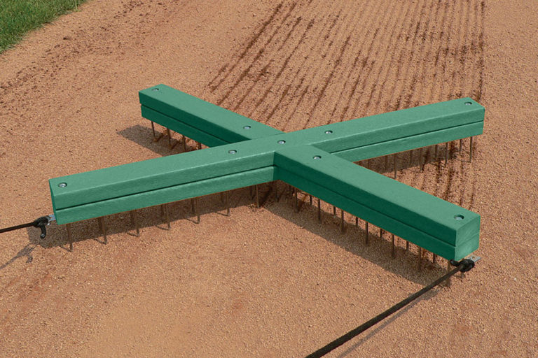 Ideal for scarifying baselines, cutouts and home plate areas