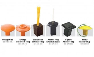 Available options of base anchor plugs