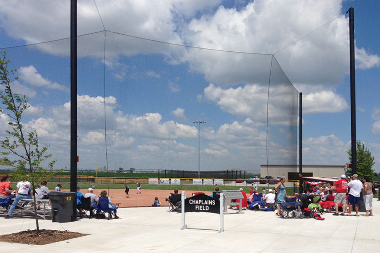 Beacon Tie-back Net Backstop – Chaplain's Field, Fremont, NE