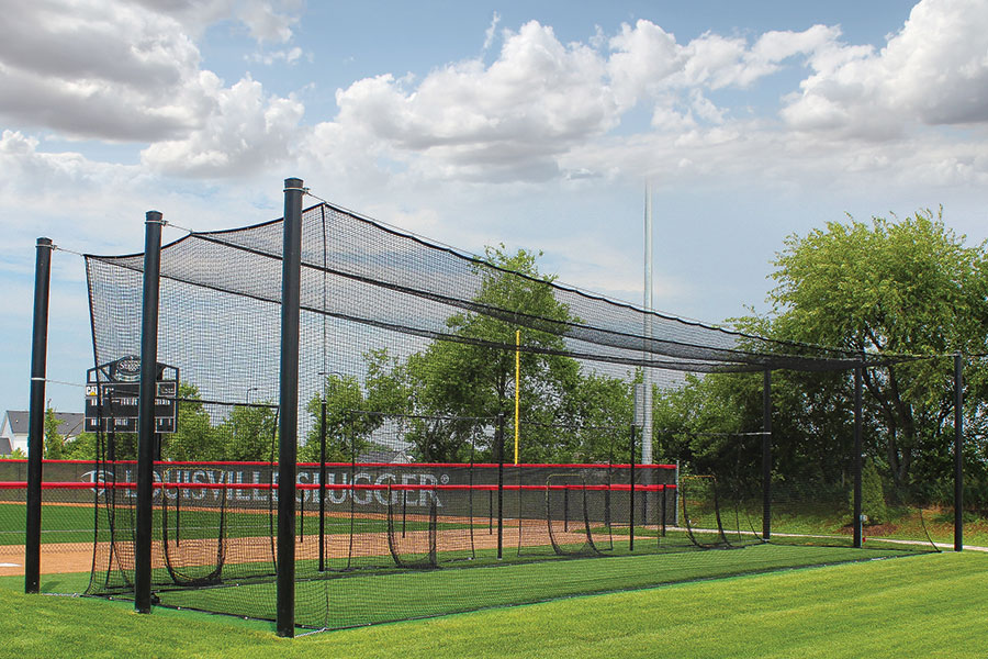 Outdoor Batting Cage System Tuffframe Pro Cage