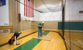 Golf Net Insert. Add a separate 10' deep golf mesh enclosure.