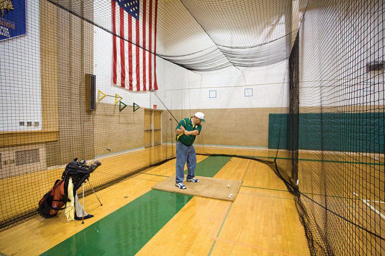 Golf Net Insert. Add a separate 10′ deep golf mesh enclosure.