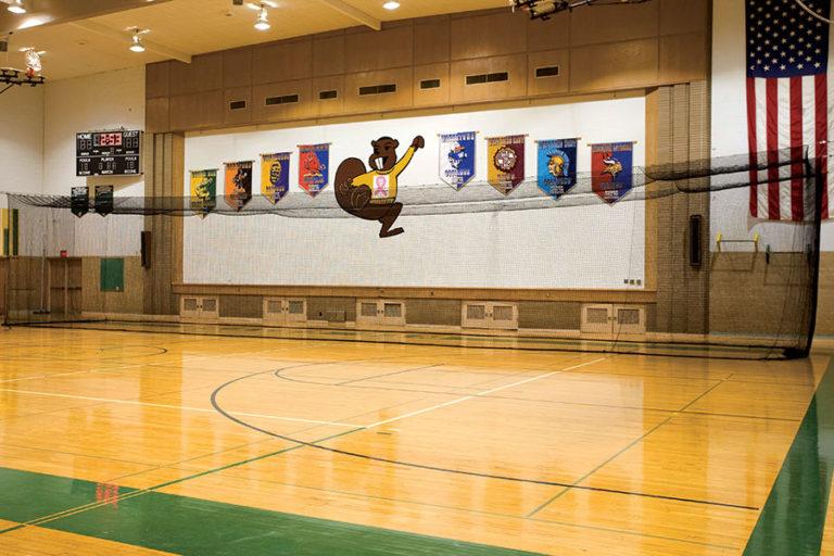 70′ PHANTOM CAGE with optional golf net insert, Beaver Dam High School, Beaver Dam, WI