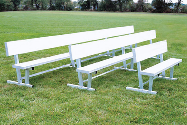 All-Aluminum Team Bench with backrests