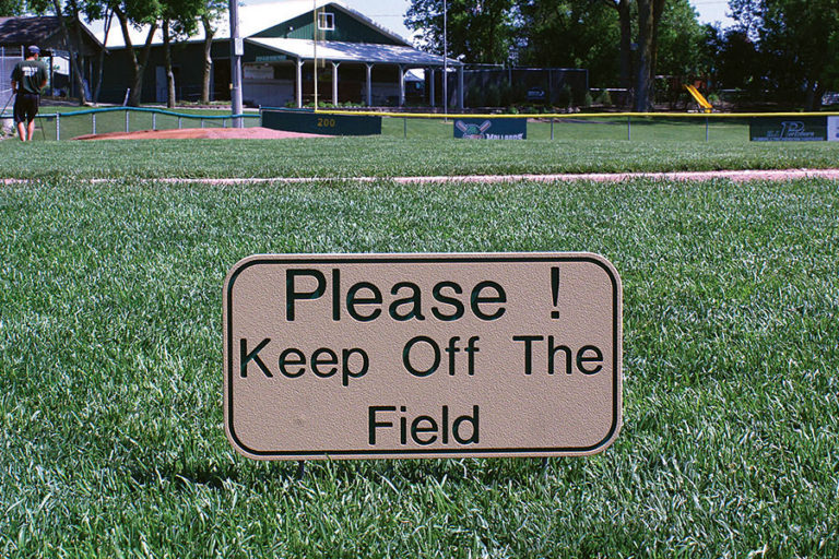 """Please! Keep Off the Field"""