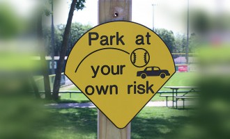"""Park at your own risk"""