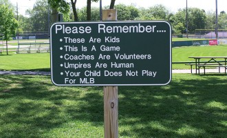 Please Remember Ballpark Sign