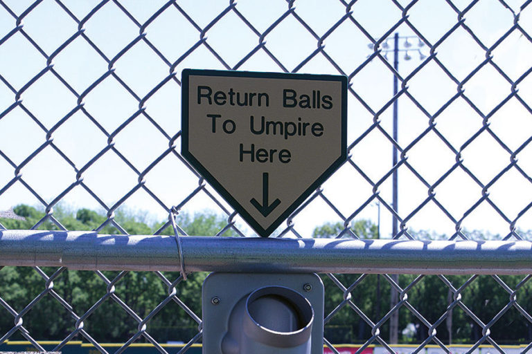 """Return Balls to Umpire Here"""