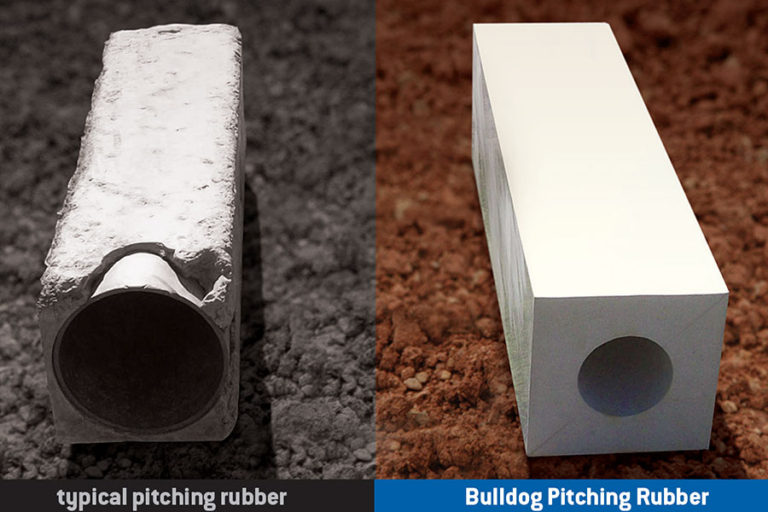 Professional grade pitching rubber designed to outlast any other brand