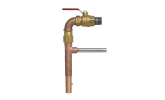 Ball valve eliminates pressurized back spray