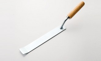 Steel blade with wooden handle