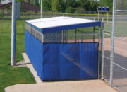 Add windscreen in your team colors with or without a logo to wrap the Beacon Team Dugouts