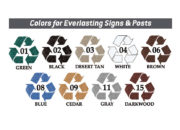 Colors for Everlasting Signs & Posts