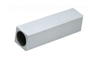 Heavy-duty rubber cover with aluminum tube insert