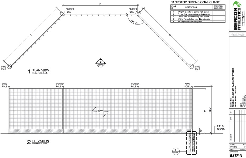 Detailed drawings ensure your backstop is engineered exactly to your specifications.