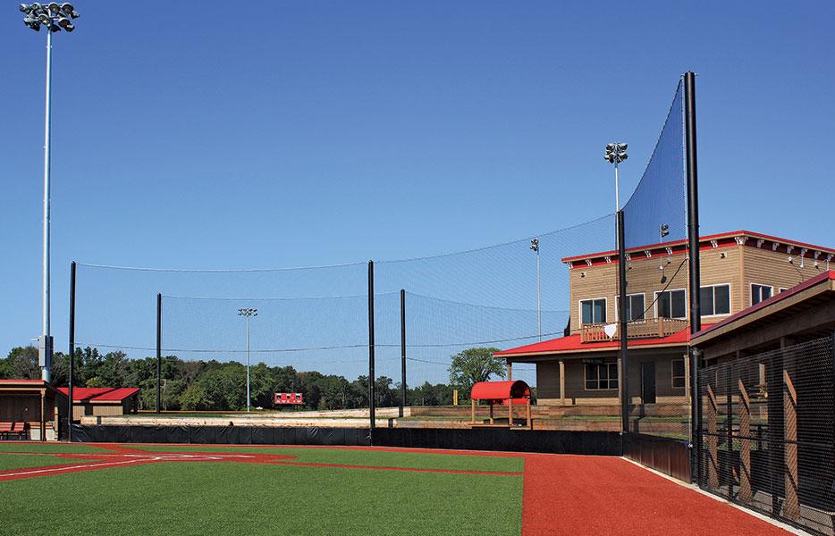 IN-LINE NET BACKSTOP Woodside Sports Complex, Mauston, WI