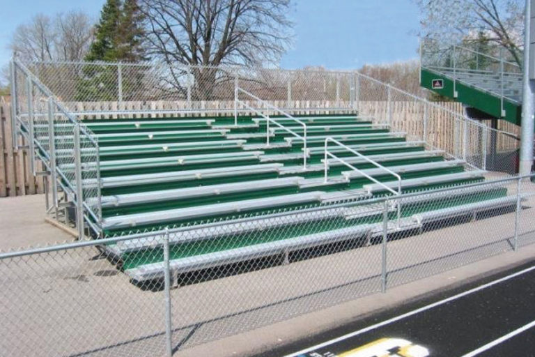 JW Bleachers with aisle & risers, 10 rows