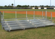 JW Bleachers with aisle & risers, 5 rows