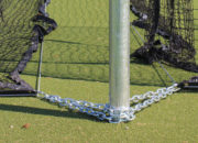 Pre-assembled ground cable kit anchors the net to reduce wind interference