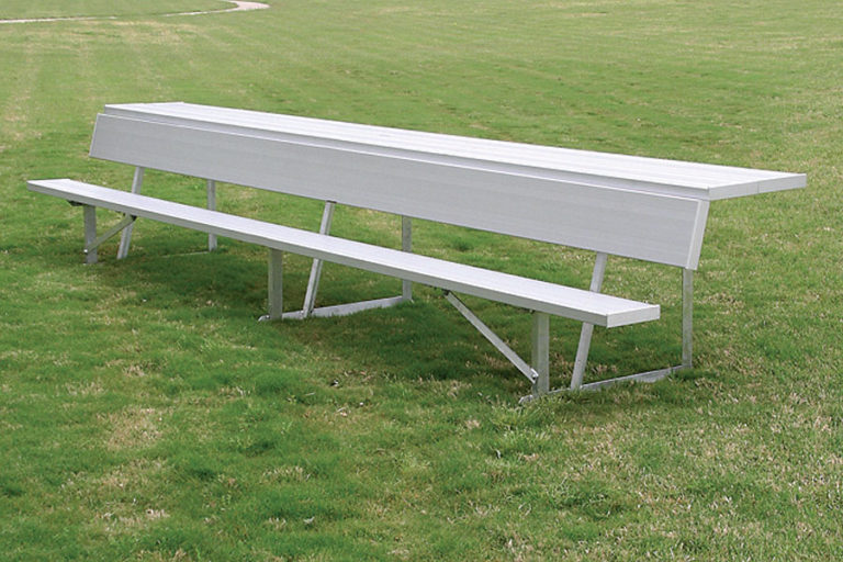 Player Bench with Storage Shelf