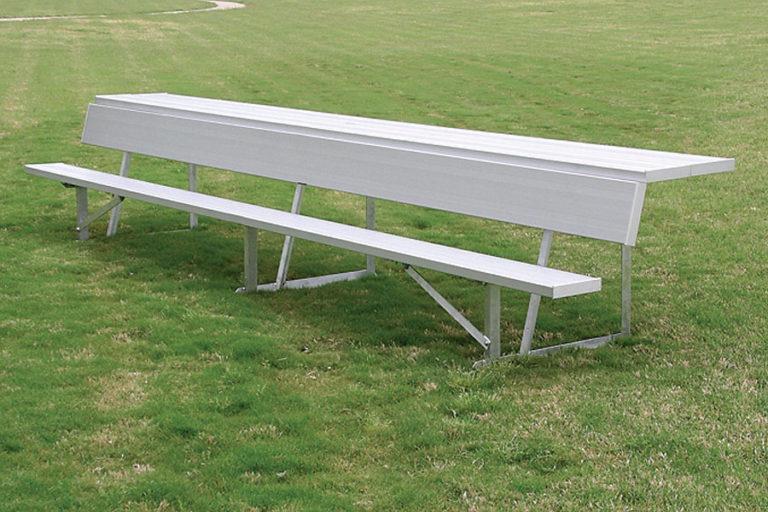 Player Bench with Storage Shelf