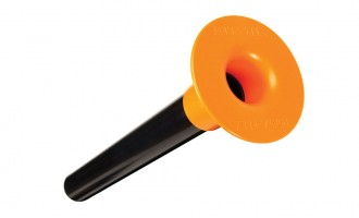 Tough ABS tube with polyethylene flange for 1-1/4 poles