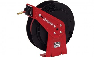 Spring-driven hose reel for applications that are less demanding