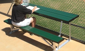 Scorer's Table with Bench in green