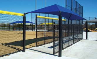 Rectangular Dugout Shade Cover