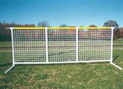 White mesh shown