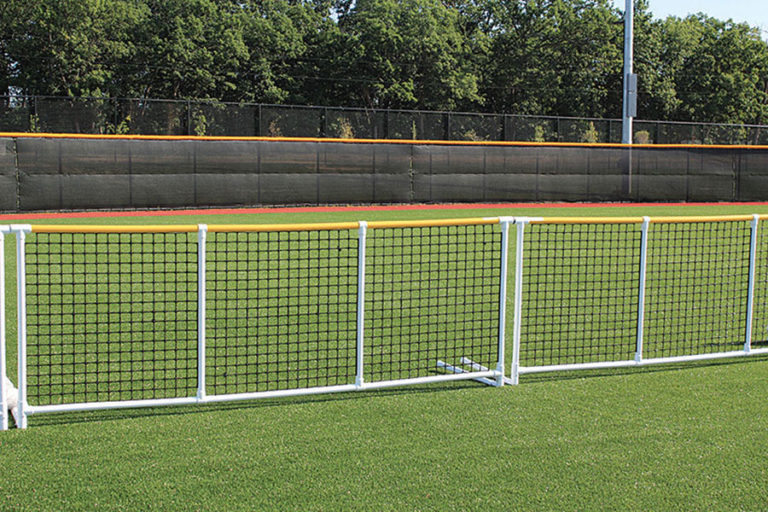 Great for outfield fencing, athletic field division & configuration