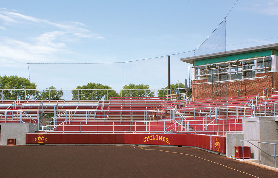 TIE-BACK NET BACKSTOP Iowa State University, Ames, IA