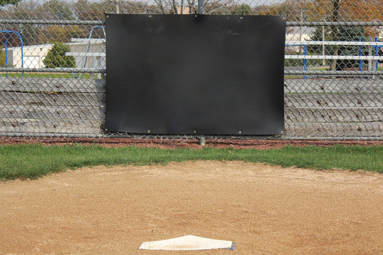 Heavy duty rubber backstop