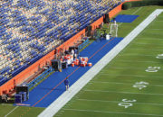 Bench Zone Sideline Turf Protectors at the University of Florida