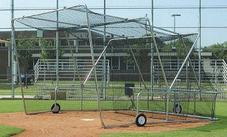 Folding Portable Backstop with the cage up