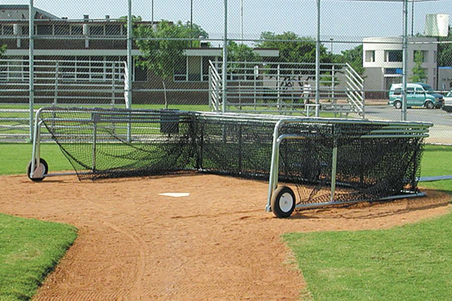 Folding Portable Backstop | Batting Practice Batting Cage
