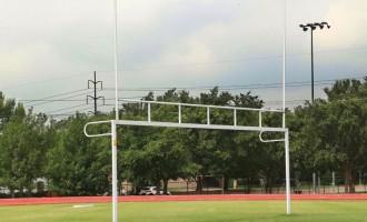 Alumagoal Football-Soccer Combination Goal and Goalposts