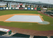 Growth covers are great for spring green-up of infield grass