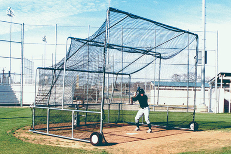 Easy maneuverability with the non-folding portable batting practice backstop