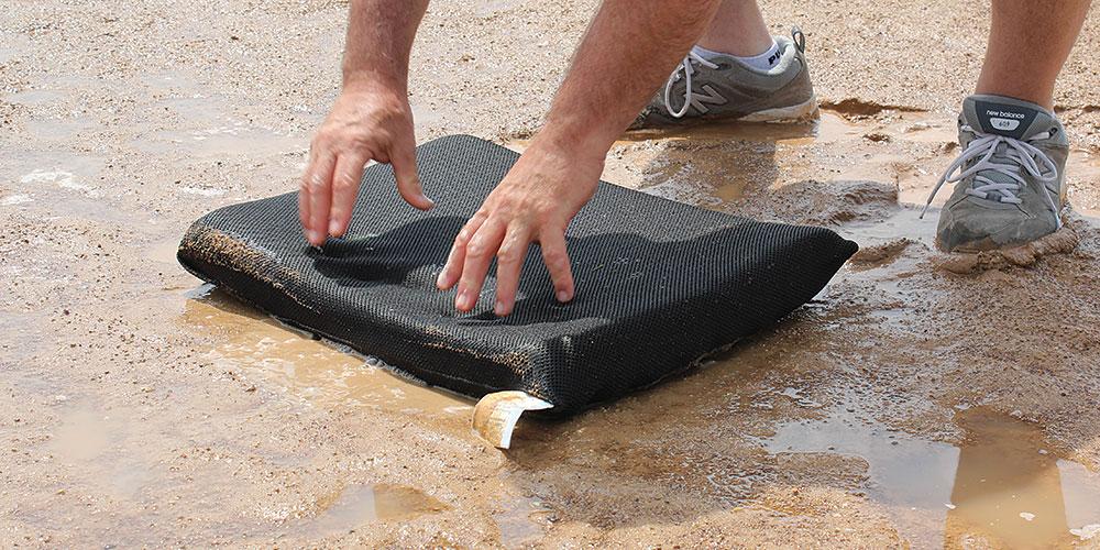 Lay Puddle Sponge on puddle